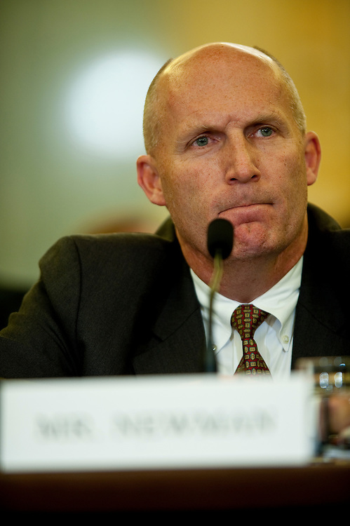 May 18,2010 - Washington, District of Columbia USA -  Steven Newman, president and CEO of Transocean Ltd.;  appears before the Senate Commerce, Science and Transportation Committee for a hearing on the response to the accident involving the Deepwater Horizon in the Gulf of Mexico.(Credit Image: © Pete Marovich/ZUMA Press)