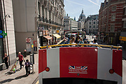 A tour bus with The Original Tour drives through  , on 7th July 2017, in central London.