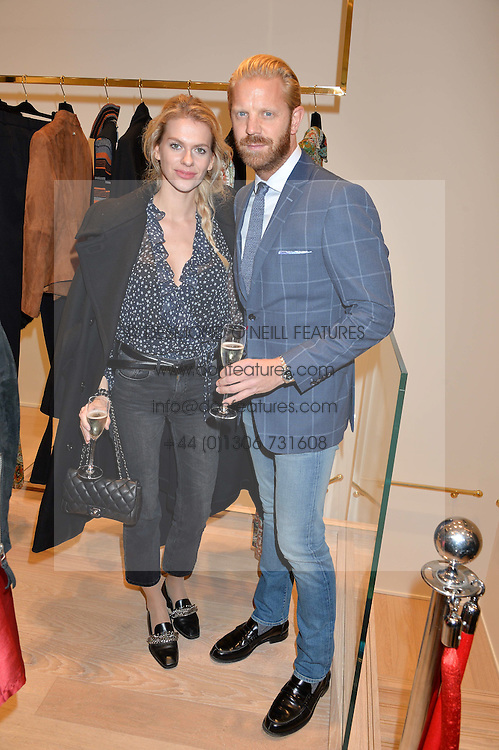 ALISTAIR GUY and BARBORA BEDIOVA at the launch of the Luisa Spagnoli Flagship store at 171 Piccadilly, London on 13th October 2016.