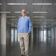 Architect Renzo Piano at the Shard as it nears completion in 2012.