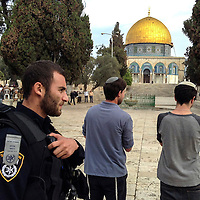 **FILE**Jewish worshippers visit the  Al Aqsa compound  sacred for Muslims and Jews, in Jerusalem's Old City.<br />