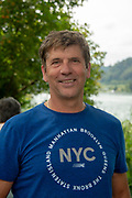 Lucerne, SWITZERLAND, 12th July 2018, Friday  FISA World Cup series, No.3, Lake Rotsee, Lucerne,  Hartmut BUSCHBACHER, German national, works as Coach in China Province, Photographer Karon PHILLIPS