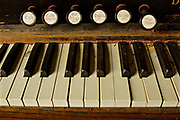 Northcentral Pennsylvania, antique organ keys, Historic ME Church, West Burlington, PA, Bradford County