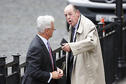 © Licensed to London News Pictures. 09/09/2019. London, UK. Sir Alan Duncan (L) talks with Sir Nicholas Soames at Parliament. The government have announced that <br /> Parliament will be prorogued at the end of business today. Photo credit: Peter Macdiarmid/LNP
