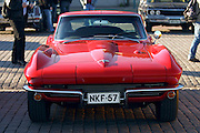 During summer from June to Septemper, every first Friday of the month is Vintage Car Cruising Night. Hundreds of classic American cars cruise around downtown Helsinki and meet at special places to have a good time, here at Kauppatori (Market Square). Sexiest beast of them all: Corvette Sting Ray Fastback Coupe?.