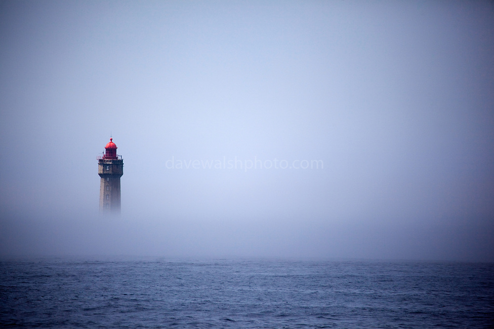 "The dramatic La Jument lighthouse, shrounded in summer fog, off the coast of the Ile d'Ouessant, Brittany. The iconic 47-metre high lighthouse was built between 1904 and 1911 in a particular treacherous part of the Brittany coastline. This mage can be licensed via Millennium Images. Contact me for more details, or email mail@milim.com For prints, contact me, or click ""add to cart"" to some standard print options."
