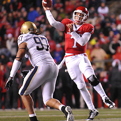 Oct 16, 2009; Piscataway, NJ, USA; Rutgers quarterback Tom Savage (7) throws a pass during first half NCAA football action in Pittsburgh's 24-17 victory over Rutgers at Rutgers Stadium.