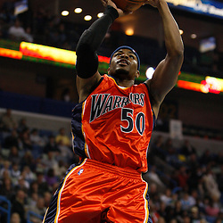 Mar 08, 2010; New Orleans, LA, USA; Golden State Warriors forward Corey Maggette (50) shoots against the New Orleans Hornets during the first half at the New Orleans Arena. Mandatory Credit: Derick E. Hingle-US PRESSWIRE