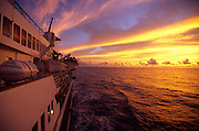 Sunset, Cruise ship<br />