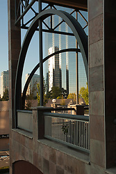 North America, United States, Washington, Bellevue. skyscrapers and arches at Bellevue Galleria