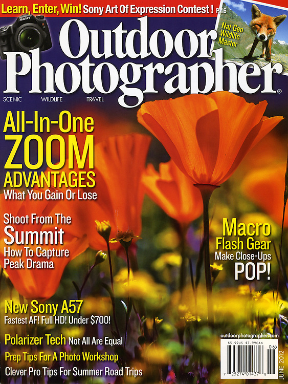 Janice's image made the cover of Outdoor Photographer.