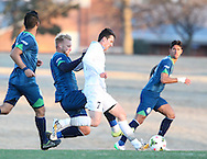 March 14, 2015: The OKC Energy FC play the University of Nebraska Omaha Mavericks in a USL preseason game at Casady High School in Oklahoma City, Oklahoma.
