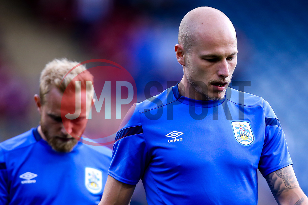 Aaron Mooy of Huddersfield Town and Alex Pritchard of Huddersfield Town - Mandatory by-line: Robbie Stephenson/JMP - 05/08/2019 - FOOTBALL - The John Smith's Stadium - Huddersfield, England - Huddersfield Town v Derby County - Sky Bet Championship