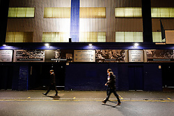 Fans trickle in outside the ground - Photo mandatory by-line: Rogan Thomson/JMP - 07966 386802 - 06/11/2014 - SPORT - FOOTBALL - Goodison Park, Liverpool - Everton v LOSC Lille Metropole - UEFA Europa League Group H.