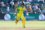 Steve Smith of Australia runns while batting during the ICC Cricket World Cup 2019 match between Afghanistan and Australia at the Bristol County Ground, Bristol, United Kingdom on 1 June 2019.