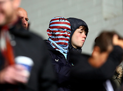 Burnley fan with his face covered in paint looks on - Mandatory by-line: Robbie Stephenson/JMP - 10/09/2017 - FOOTBALL - Turf Moor - Burnley, England - Burnley v Crystal Palace - Premier League