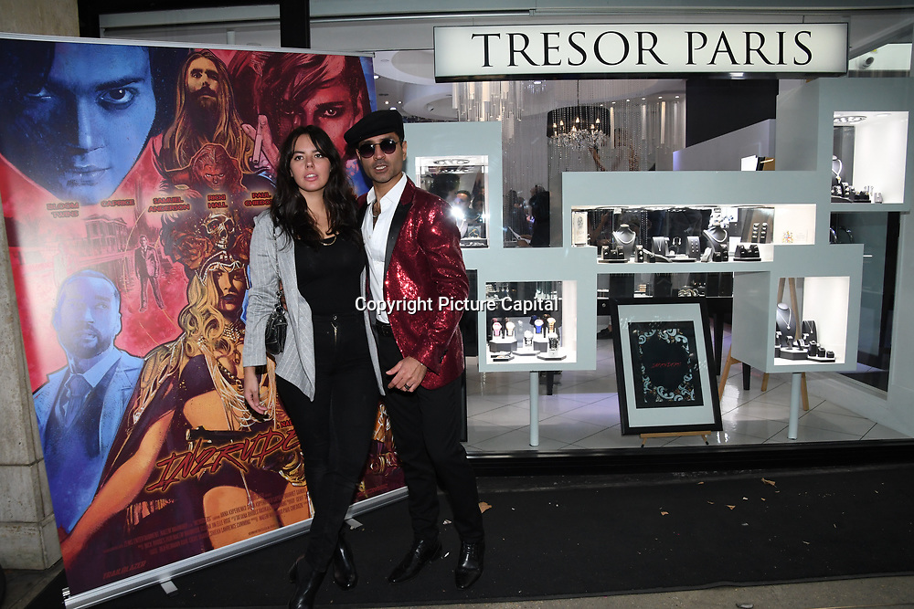 Holly Halkes, Naeem Mahmood is a actor arrives at Tresor Paris In2ruders - launch at Tresor Paris, 7 Greville Street, Hatton Garden, London, UK 13th September 2018.