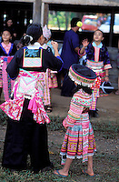 France, Guyane, village de Cacao, jeune femme Hmong venue du Laos pendant la fete du nouvel an // Cacao village, Hmong (from Laos) ethnic group, New year festival, French Guyane, France