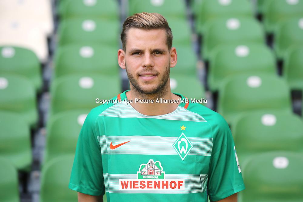 German Bundesliga - Season 2016/17 - Photocall Werder Bremen on 20 July 2016 in Bremen, Germany: Justin Eilers. Photo: Focke Strangmann/dpa | usage worldwide