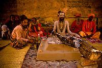 Portrait of Indian Sadhu Holy Mans , Varanasi , India Image by Andres Morya