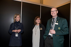 The organizers of the Rolex Grand Slam of Showjumping<br /> In the picture : Anky Van Grunsven President Indoor Brabant, Linda Southern-Heathcott, President of the Steering Committee of the Rolex Grand Slam of Show Jumping , Ian Allison, Spruce Meadows<br /> Indoor Brabant - Den Bosch 2017<br /> © Dirk Caremans<br /> 12/03/2017