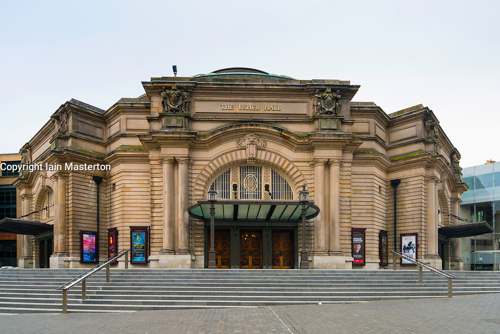 Exterior of Usher Hall in Edinburgh, Scotland, United Kingdom