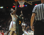 "Ole Miss forward Terrance Henry (1) rebounds against Southeastern Louisiana's Jason Marks (3) at the C.M. ""Tad"" Smith Coliseum in Oxford, Miss. on Sunday, January 2, 2011. Mississippi won 68-59. (AP Photo/Oxford Eagle, Bruce Newman)"