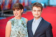 "Daniel Radcliffe arrives at the UK premiere of his latest movie ""What If"" at the OdeonWest End, Leicester Square, London. Pictured L-R: Jemima Rooper; Daniel Radcliffe."