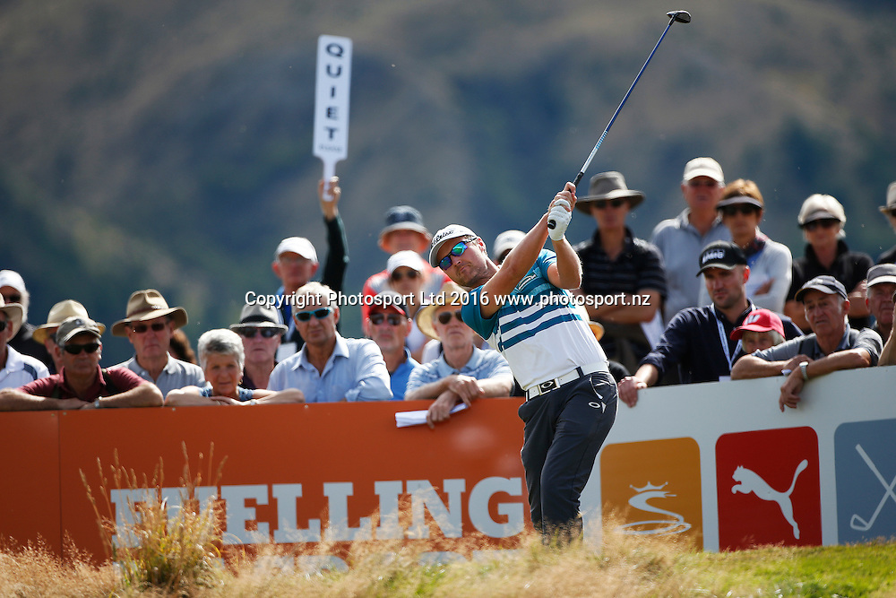 Australia's Matthew Griffin during Round 4 at The Hills during 2016 BMW ISPS Handa New Zealand Open. Sunday 13 March 2016. Arrowtown, New Zealand. Copyright photo: Michael Thomas / www.photosport.nz