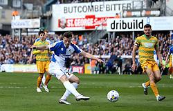 Billy Bodin of Bristol Rovers shots at goal - Mandatory by-line: Robbie Stephenson/JMP - 16/04/2016 - FOOTBALL - Memorial Stadium - Bristol, England - Bristol Rovers v Yeovil Town - Sky Bet League Two
