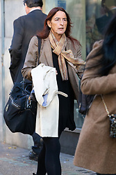 Dr Francesca Carpos-Young arrives at the Central London Employment Tribunal where she is contesting her dismissal from the Royal Academy of Music after sending a controversial email on how to earn a good reputation to 800 students, which contained a glossary of terms that included referring to violinists as 'gypos', a derogatory term for gypsies. London, October 25 2018.