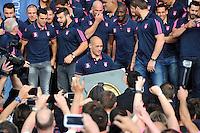 Sergio PARISSE  - 15.06.2015 - Presentation du bouclier de Brennus par les joueurs du Stade Francais a l'Hotel de Ville - Paris <br /> Photo : Nolwenn Le Gouic / Icon Sport