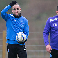St Johnstone Preview....04.04.14<br /> Lee Croft pictured during training this morning ahead of tomorrow's game at Kilmarnock<br /> Picture by Graeme Hart.<br /> Copyright Perthshire Picture Agency<br /> Tel: 01738 623350  Mobile: 07990 594431