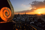 France. Paris. elevated view. Saint germain des pres church and montparnasse tower. view from  the dome of the institute,