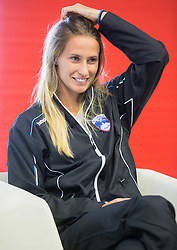 Polona Hercog during press conference of Slovenian women Tennis team before Fedcup tournament in Tallinn, Estonia, on January 28, 2015 in Kristalna palaca, Ljubljana, Slovenia. Photo by Vid Ponikvar / Sportida