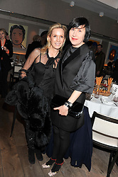 Left to right, CAROLYN DAILEY and ALICE RAWTHORNE at a dinner to celebrate the opening of the Serpentine's Gallery new exhibition of work by Jonas Mekas held at Cassis, 232-236 Brompton Road, London SW3, London on 3rd December 2012.