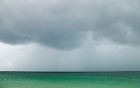 A storm approaching over emerald green water, Southern Thailand, Andaman Sea&amp;#xA;<br />