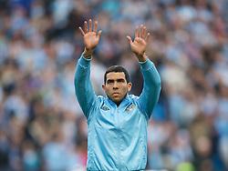 MANCHESTER, ENGLAND - Monday, April 30, 2012: Manchester City's Carlos Tevez before the Premiership match against Manchester United at the City of Manchester Stadium. (Pic by David Rawcliffe/Propaganda)