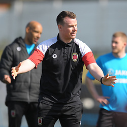 TELFORD COPYRIGHT MIKE SHERIDAN 6/4/2019 - Chorley manager Jame Vermiglio during the Vanarama Conference North fixture between Chorley FC and AFC Telford United at Victory Park