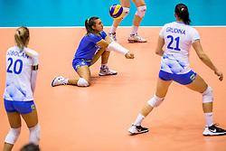 23-08-2017 NED: World Qualifications Greece - Slovenia, Rotterdam<br /> SloveniÎ wint met 3-0 / Maja Pahor #6 of Slovenia<br /> Photo by Ronald Hoogendoorn / Sportida