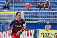 Barcelona captain Amarelle in action against Levante at the Mundialito de Clubes 2015. Foto: Marcello Zambrana/Divulgação