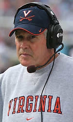 UVA head coach Al Groh against UNC.  The North Carolina Tar Heels defeated the Virginia Cavaliers 7-5 on October 22, 2005 in Chapel Hill, NC.