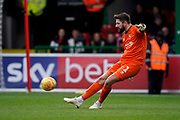 Josh Vickers of Lincoln City in action during the EFL Sky Bet League 2 match between Swindon Town and Lincoln City at the County Ground, Swindon, England on 12 January 2019.
