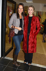 Left to right, SAFFRON ALDRIDGE and ALLEGRA HICKS at a party hosted by Kathryn Ireland held at her showroom at 65-69 Lots Road, London on 27th September 2005.<br /><br />NON EXCLUSIVE - WORLD RIGHTS