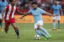 August 15, 2017 - Girona, Spain - 08 Ilkay Gundogan from Germany of Manchester City during the Costa Brava Trophy match between Girona FC and Manchester City at Estadi de Montilivi on August 15, 2017 in Girona, Spain. (Credit Image: © Xavier Bonilla/NurPhoto via ZUMA Press)