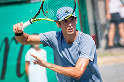 Tomas Lipovsek Puches (ARG) play against Enzo Couacaud (FRA) at ATP Challenger Zavarovalnica Sava Slovenia Open 2018, on August 5, 2018 in Sports centre, Portoroz/Portorose, Slovenia. Photo by Urban Urbanc / Sportida