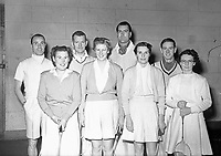 Badminton club. Names, date and location unknown. (Part of the Independent Ireland Newspapers/NLI Collection)