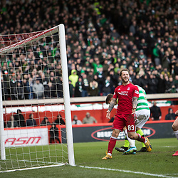 Aberdeen v Celtic, SPrem, 25th February 2018<br /> <br /> Aberdeen v Celtic, SPrem, 25th February 2018 &copy; Scott Cameron Baxter | SportPix.org.uk<br /> <br /> Stevie May shout to Gary Mackay-Steven to have delivered the ball early which would have levelled the score up at 1-1.