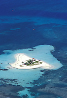 France - Département d'Outre mer de la Guadeloupe (DOM)- Basse Terre - Grand Cul de Sac Marin - Îlet Blanc / Îlet au Sable -Vue aérienne