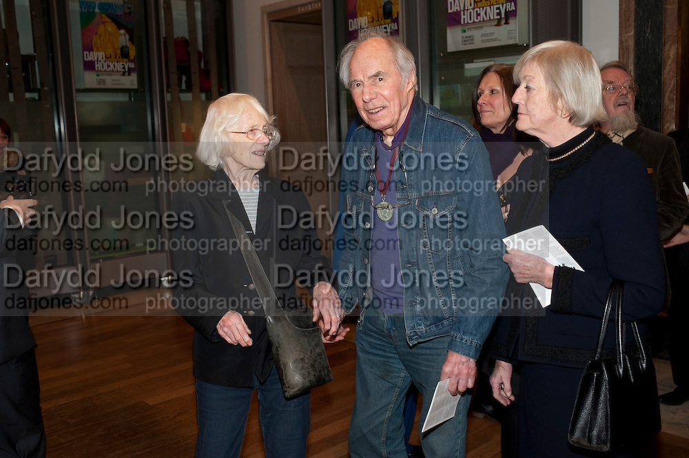 BETTY IRWIN; ALBERT IRWIN, Opening of David Hockney ' A Bigger Picture' Royal Academy. Piccadilly. London. 17 January 2012